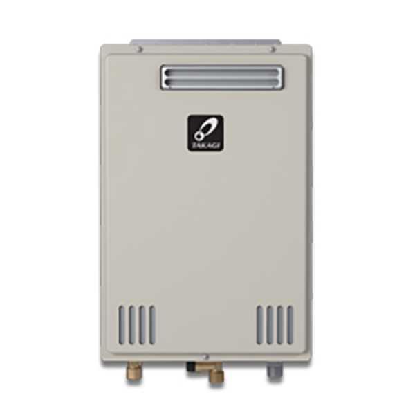 Takagi TK-110U-E Outdoor Tankless Water Heater, Natural/Propane Gas Convertible, 140KBTU