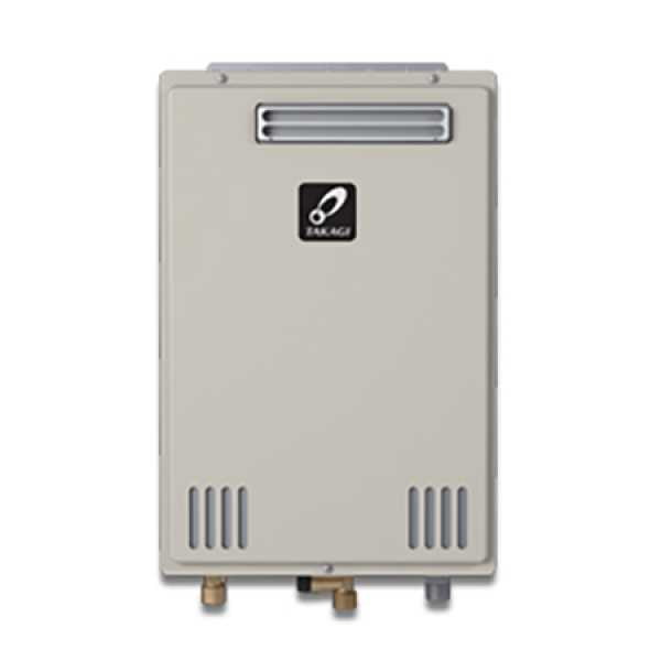 Takagi TK-310U-E Outdoor Tankless Water Heater, Natural/Propane Gas Convertible, 190KBTU