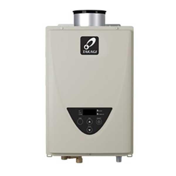 Takagi TK-510C-NI Indoor Tankless Water Heater w/ Concentric Vent, Natural/Propane Gas Convertible, 199KBTU