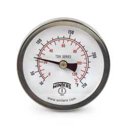 "30-250F Hot Water Thermometer/Temperature Gauge, 2-1/2"" Dial, 1/2"" NPT, 30-250F"