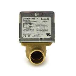 "Honeywell V8043F1036 Two-way, Straight-through Zone Valve, 3/4"" Sweat Connection"