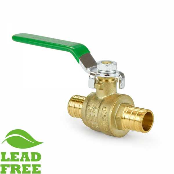 "3/4"" PEX Brass Ball Valve, Full Port (Lead-Free)"