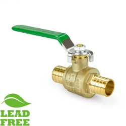 "1"" PEX Brass Ball Valve, Full Port (Lead-Free)"