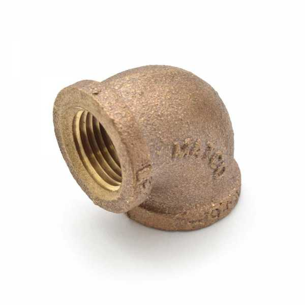 """1/2"""" FPT Brass 90° Elbow, Lead-Free"""