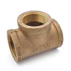 "1-1/4"" FPT Brass Tee, Lead-Free"