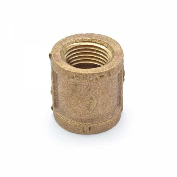 """1/2"""" FPT Brass Coupling, Lead-Free"""