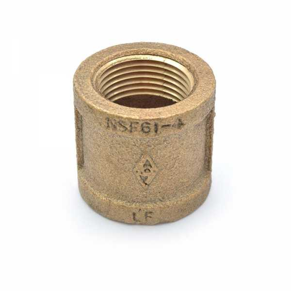"3/4"" FPT Brass Coupling, Lead-Free"