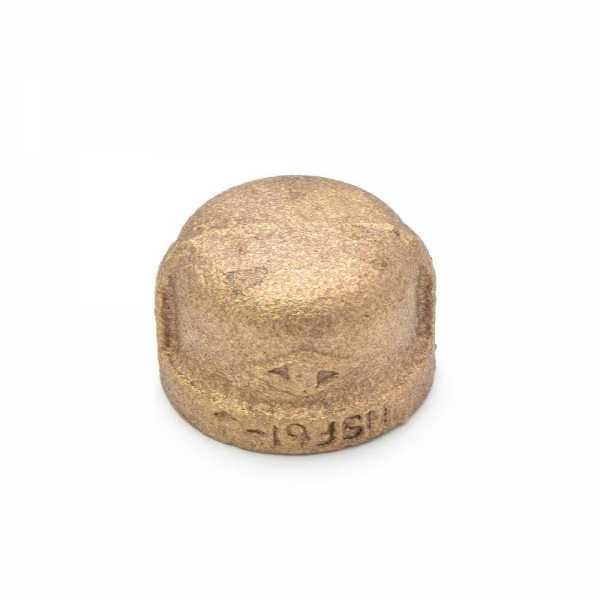 "1/2"" FPT Brass Cap, Lead-Free"