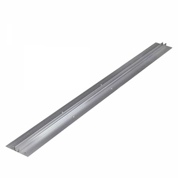 "4ft long, 1/2"" PEX Aluminum Extruded Heat Transfer Plate, Omega-Shaped"