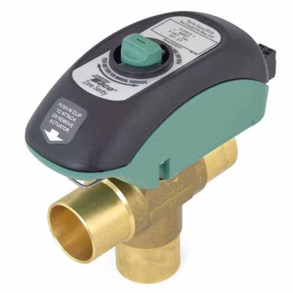 "1"" Sweat Zone Sentry Zone Valve, 3-Way, Normally Closed"
