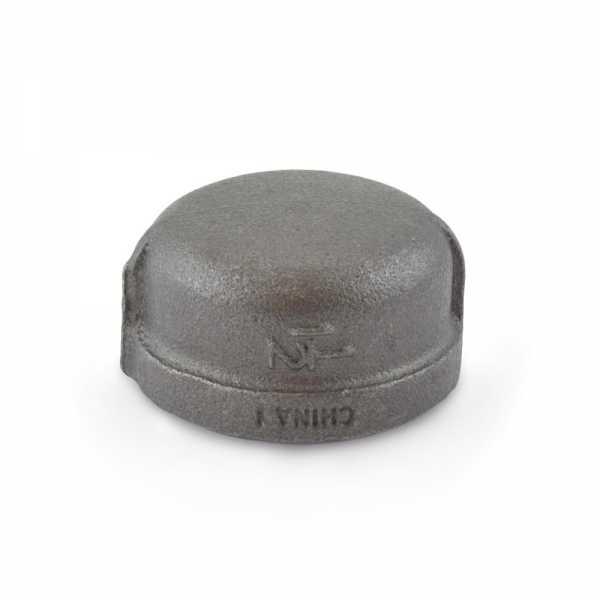 """1-1/4"""" Black Cap"""
