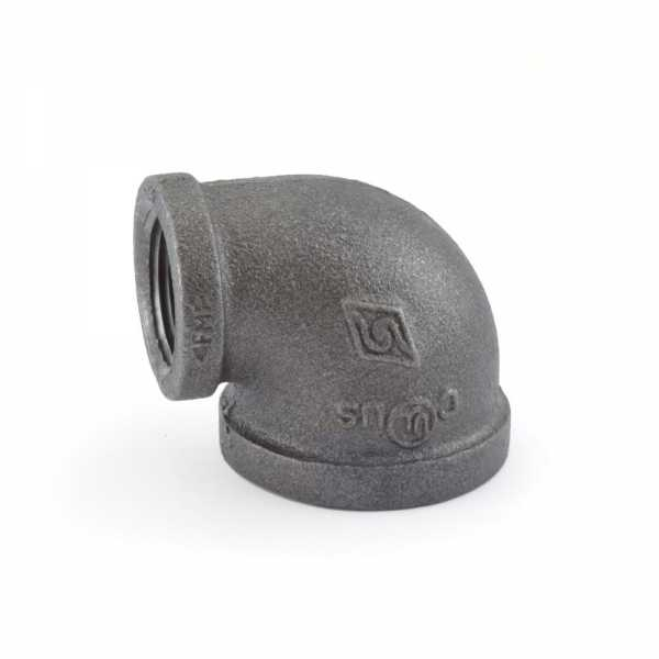 "1"" x 3/4"" Black 90° Elbow"