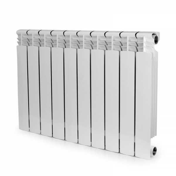 ALBI AB2232-10 Aluminum Heating Radiator, 22x32x3, 10 Section, Bimetal, Wall-Hung