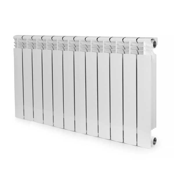 ALBI AB2238-12 Aluminum Heating Radiator, 22x38x3, 12 Section, Bimetal, Wall-Hung