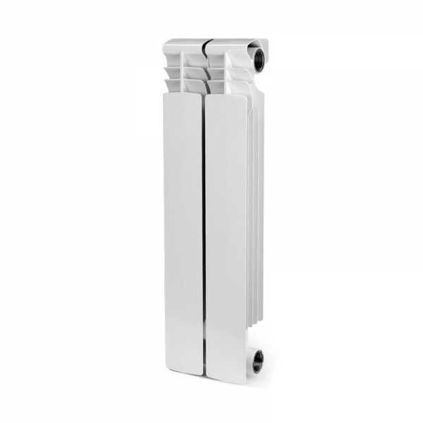 Aluminum Heating Radiator, 22x6x3, 2 Section, Bimetal, Wall-Hung