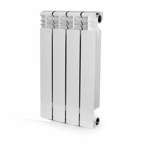 ALBI AB2212-4 Aluminum Heating Radiator, 22x12x3, 4 Section, Bimetal, Wall-Hung