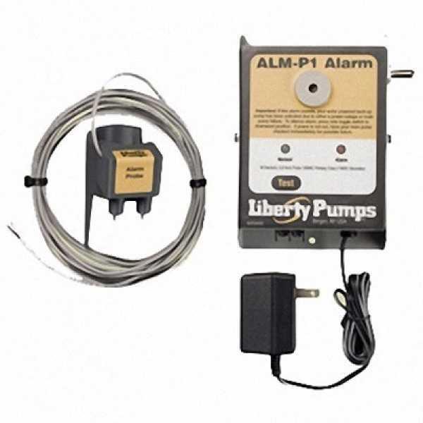 Liberty Pumps ALM-P1, Indoor High Liquid Level Alarm w/ Probe sensor, 103 decibel