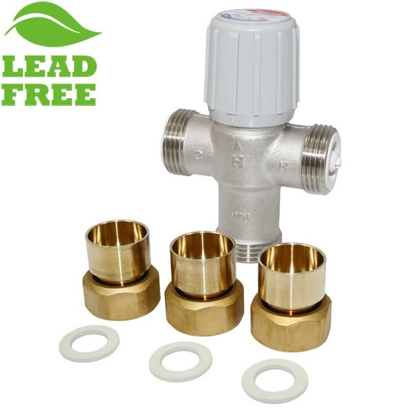"3/4"" Union Threaded Mixing Valve (Lead-Free), 70-145F"