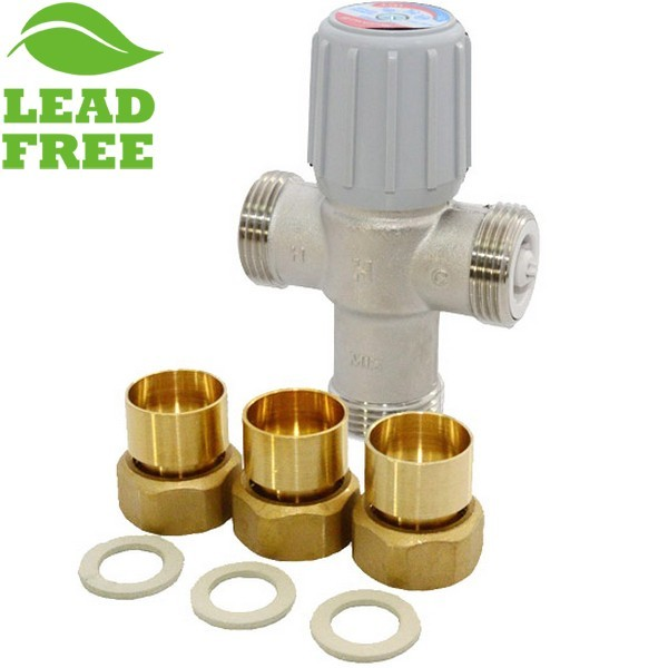 "1"" Union Sweat Mixing Valve (Lead-Free), 70-120F"