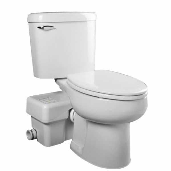 "Liberty Pumps ASCENTII-RSW ASCENT-II Complete Automatic Macerating Toilet System, Round Bowl, 1/2 HP , 110V ~ 120V, 8"" cord"