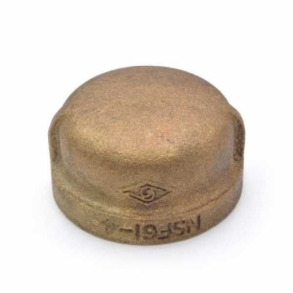 "1-1/4"" FPT Brass Cap, Lead-Free"