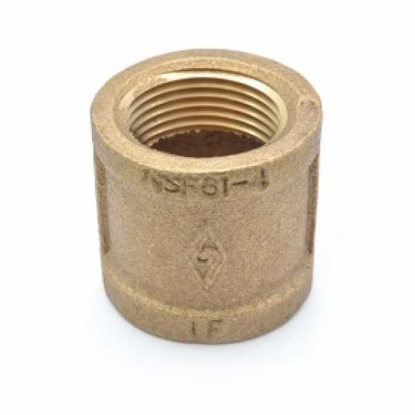 """1"""" FPT Brass Coupling, Lead-Free"""
