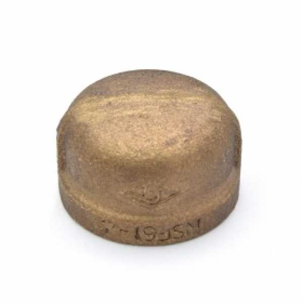 "1"" FPT Brass Cap, Lead-Free"