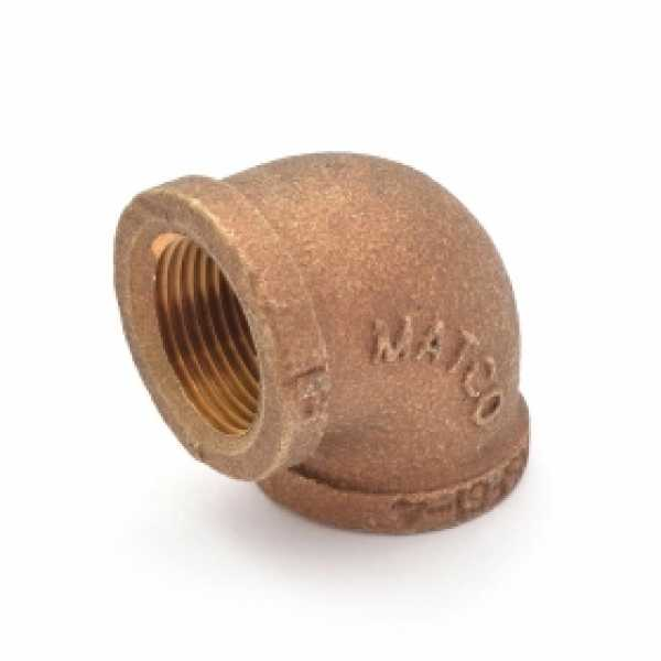 "3/4"" FPT Brass 90° Elbow, Lead-Free"