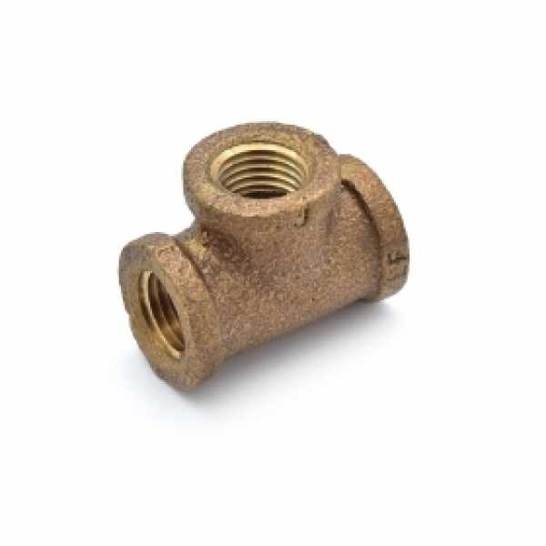 """1/4"""" FPT Brass Tee, Lead-Free"""