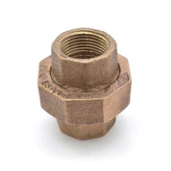 """3/4"""" FPT Brass Union, Lead-Free"""