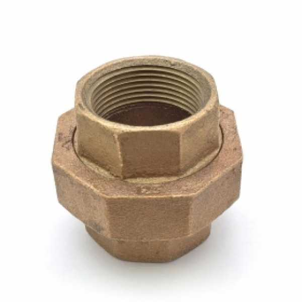 """1-1/4"""" FPT Brass Union, Lead-Free"""