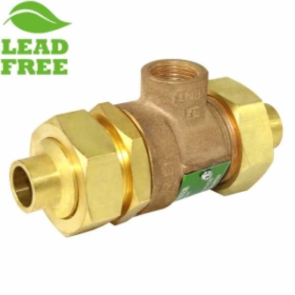 "1/2"" Union Sweat Dual Check Backflow Preventer Valve w/ Atmospheric Vent (Lead-Free)"