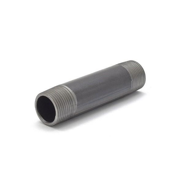 """Everhot BL-034X4 3/4"""" x 4"""" Black Pipe Nipple"""