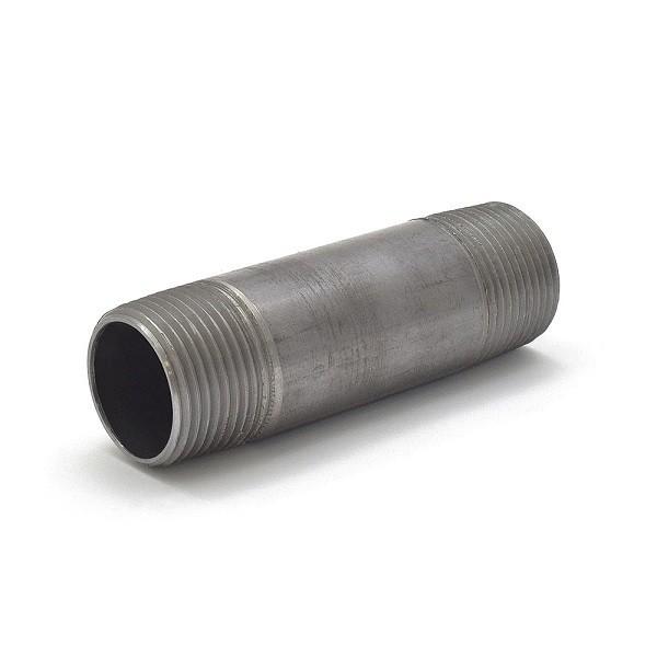 """Everhot BL-100X4 1"""" x 4"""" Black Pipe Nipple"""