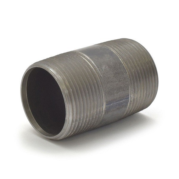 """Everhot BL-114X212 1-1/4"""" x 2-1/2"""" Black Pipe Nipple"""