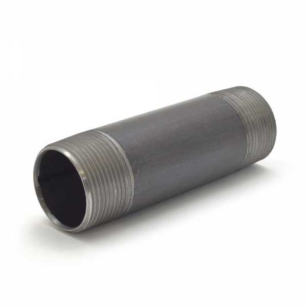 """Everhot BL-114X5 1-1/4"""" x 5"""" Black Pipe Nipple"""