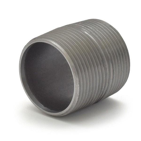 "Everhot BL-114XCL 1-1/4"" Close Black Pipe Nipple"