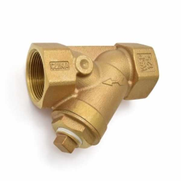 "1-1/2"" Threaded Y-Strainer, Cast Bronze, with Plug"