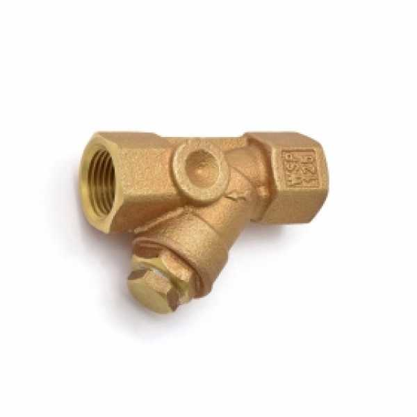 "1/2"" Threaded Y-Strainer, Cast Bronze, with Plug"