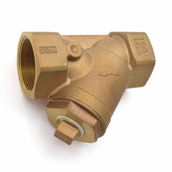 """2"""" Threaded Y-Strainer, Cast Bronze, with Plug"""