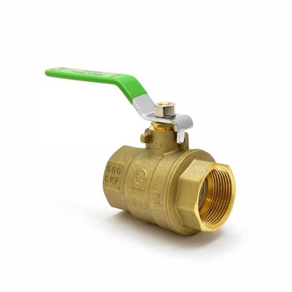 Wright Valves BVT114-LF 1-1/4 inch Brass Ball Valve, NPT Threaded, Full Port (Lead-Free)