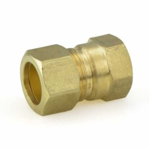 """5/8"""" OD x 1/2"""" FIP Threaded Compression Adapter, Lead-Free (Bag of 10)"""