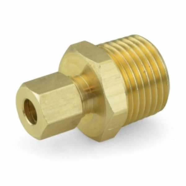"1/4"" OD x 1/2"" MIP Threaded Compression Adapter, Lead-Free (Bag of 10)"