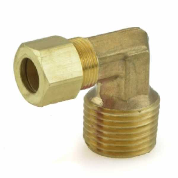 "3/8"" OD x 1/2"" MIP Threaded Compression Elbow, Lead-Free (Bag of 10)"