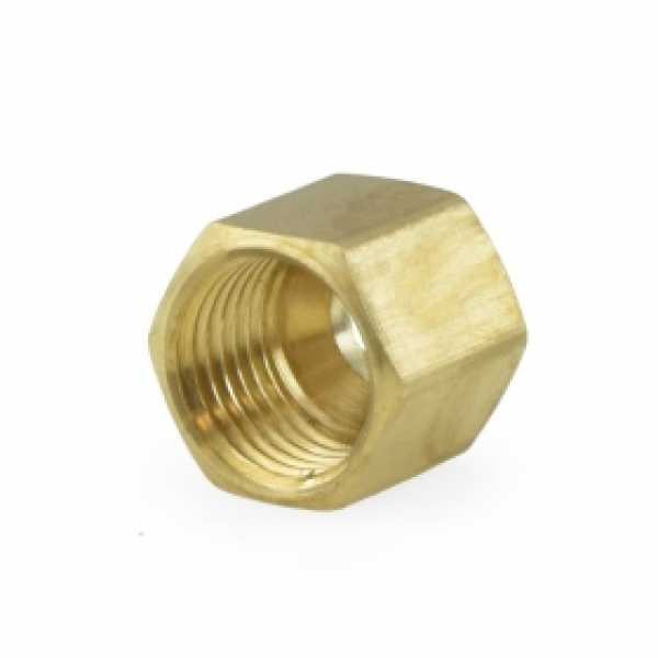 "1/4"" OD Compression Brass Nut (Bag of 10)"