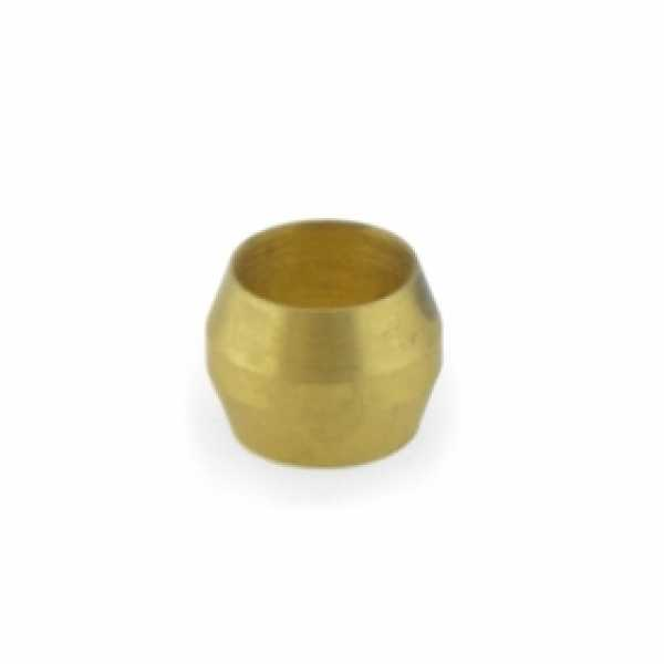 """1/4"""" OD Brass Compression Sleeve, Lead-Free (Bag of 10)"""