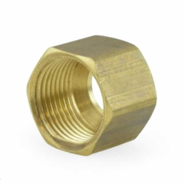 "3/8"" OD Compression Brass Nut (Bag of 10)"