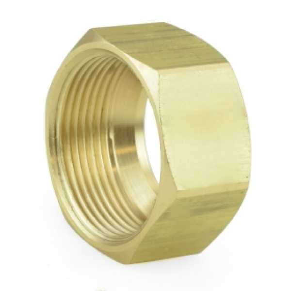 "7/8"" OD Compression Brass Nut (Bag of 10)"