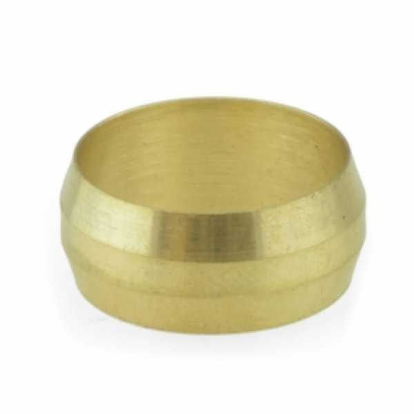 """5/8"""" OD Brass Compression Sleeve, Lead-Free (Bag of 10)"""