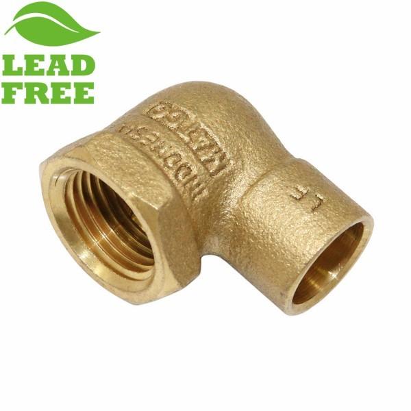 "Matco Norca CLF0303LF 1/2"" C x 1/2"" Female Thread Cast Brass Adapter Elbow, Lead Free"